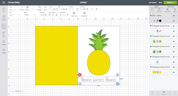 This pineapple candy pouch card is a great way to welcome a new neighbor or tell someone you love just how sweet they are! Free cut files for the Cricut Explore or Silhouette Cameo.