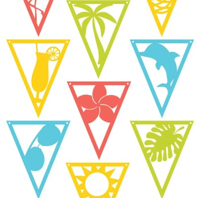 Tropical Themed Party Pennants