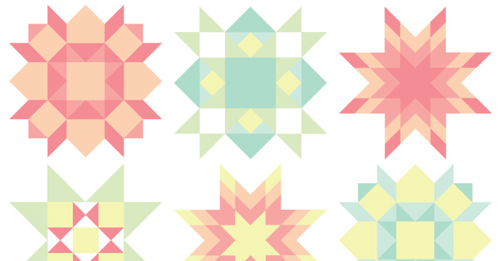 Quilt Block Clip Art -- FREE Download, 9 PNG files