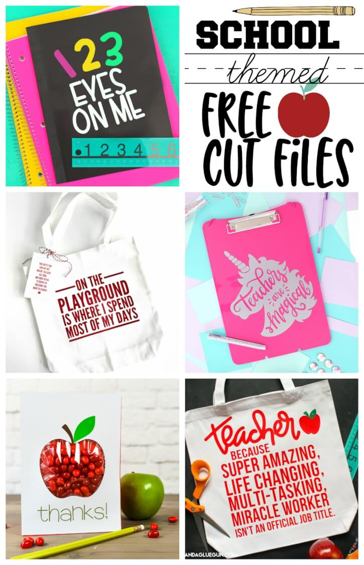 Free Back to School Cut Files