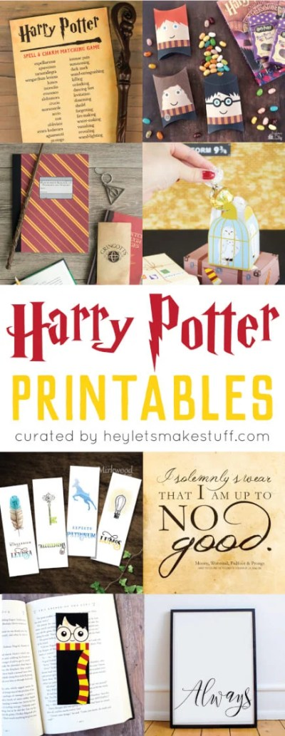 It is a photo of Divine Harry Potter Print Outs