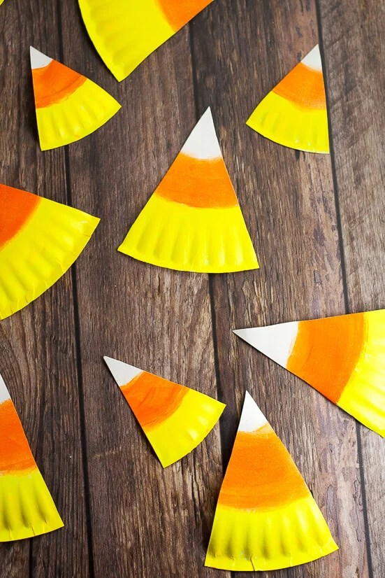 Coffee Filter Candy Corn - Typically Simple