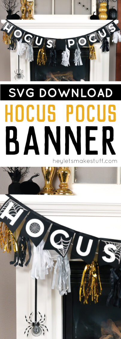 This Halloween Hocus Pocus Banner is the perfect addition to your DIY Halloween decor! Designed to be cut on your Cricut Maker using felt and iron-on vinyl, this banner will make your fire burn and your cauldron bubble!