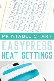 Lost your quick reference guide for the heat settings for the Cricut EasyPress or EasyPress 2? Get a printable version and learn more about this awesome heat press!