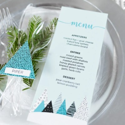 Winter Trees Christmas Table Decor Ideas