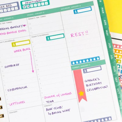 Printable Planner Stickers for the Cricut