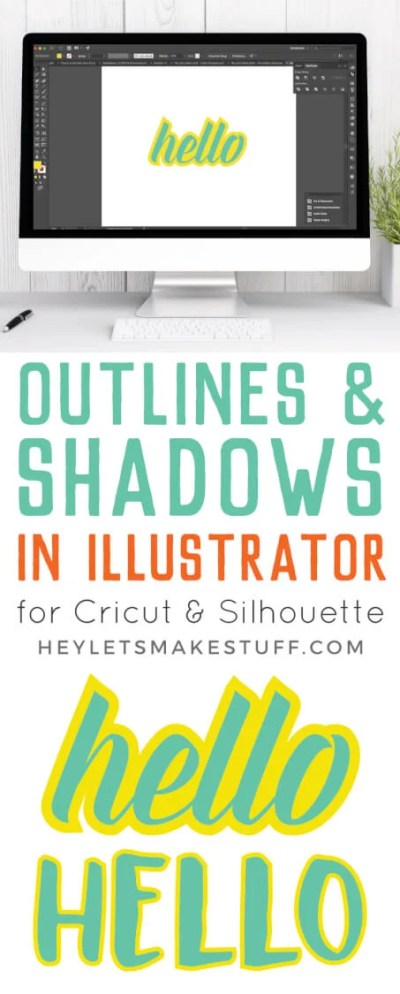 Frustrated trying to create an outline in the Cricut Design Space? It's not easy! Here's a much easier way to create an outline in Illustrator.