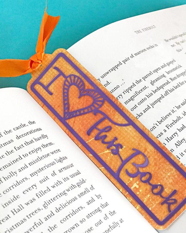 valentine's svg files - love bookmark