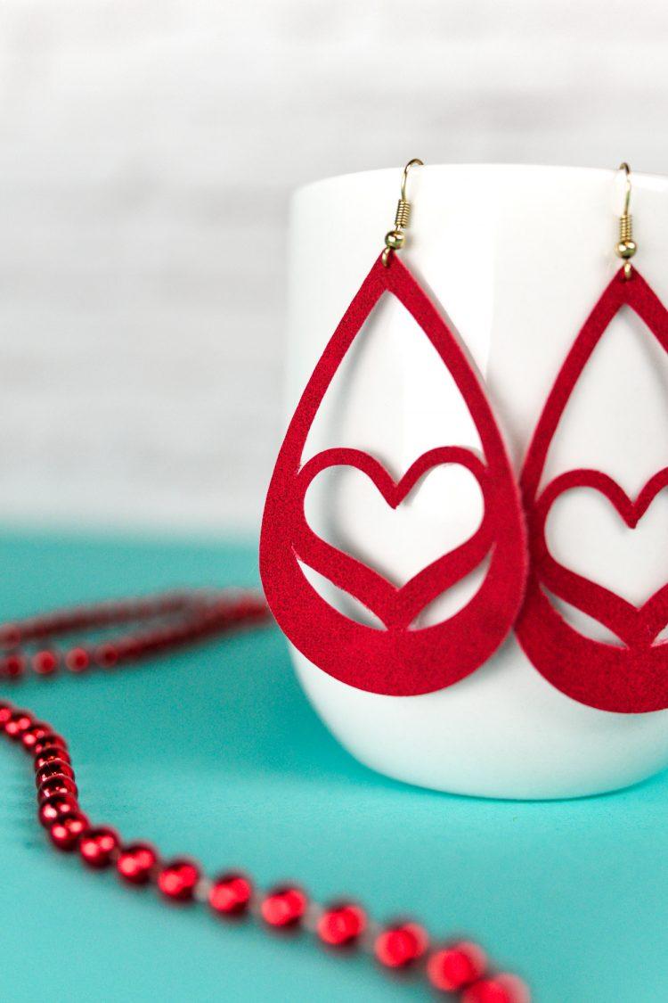 faux suede earrings