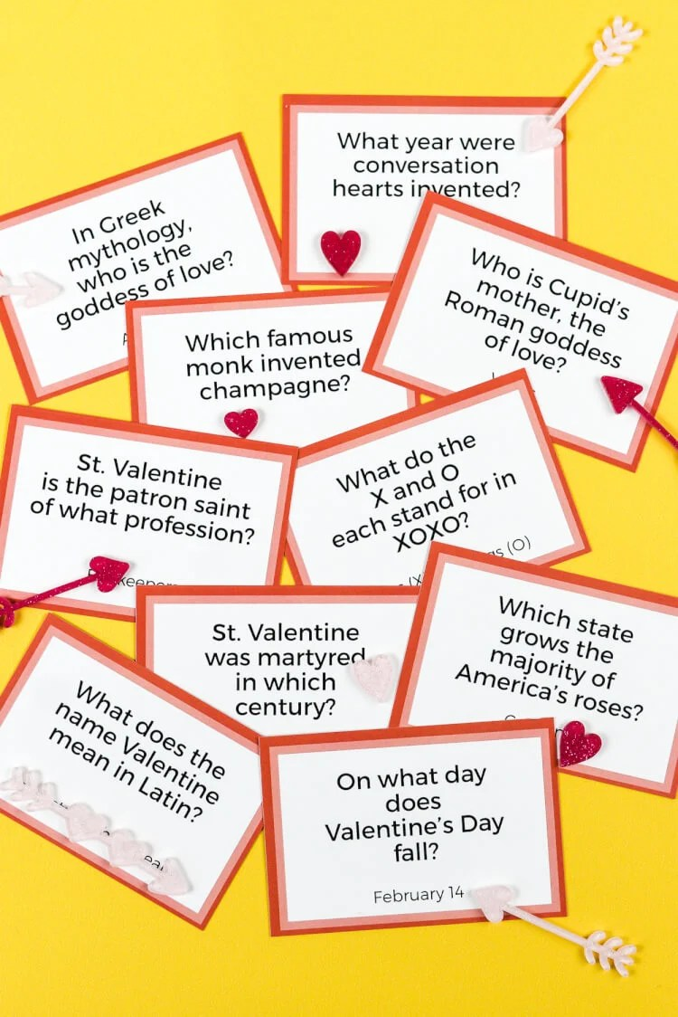 picture about Food Trivia Questions and Answers Printable referred to as Printable Valentines Working day Trivia - Hey, Makes it possible for Generate Things