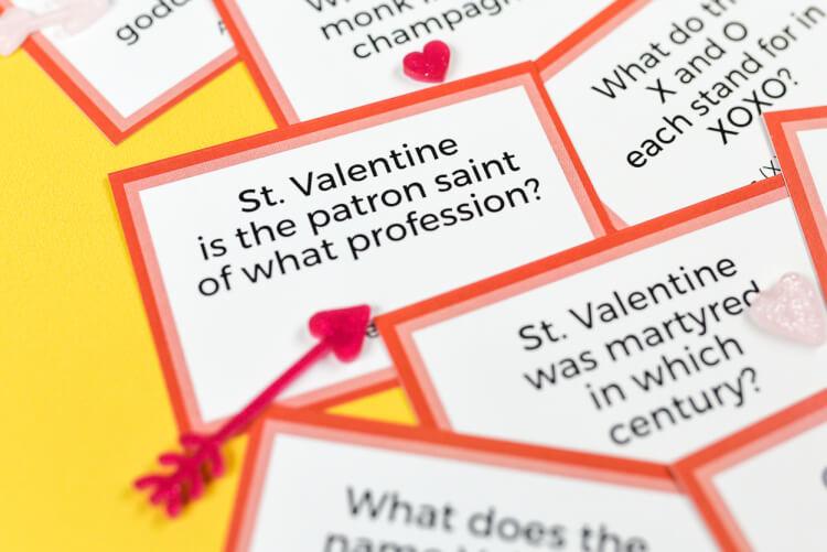 Printable Valentine's Day Trivia - Hey, Let's Make Stuff