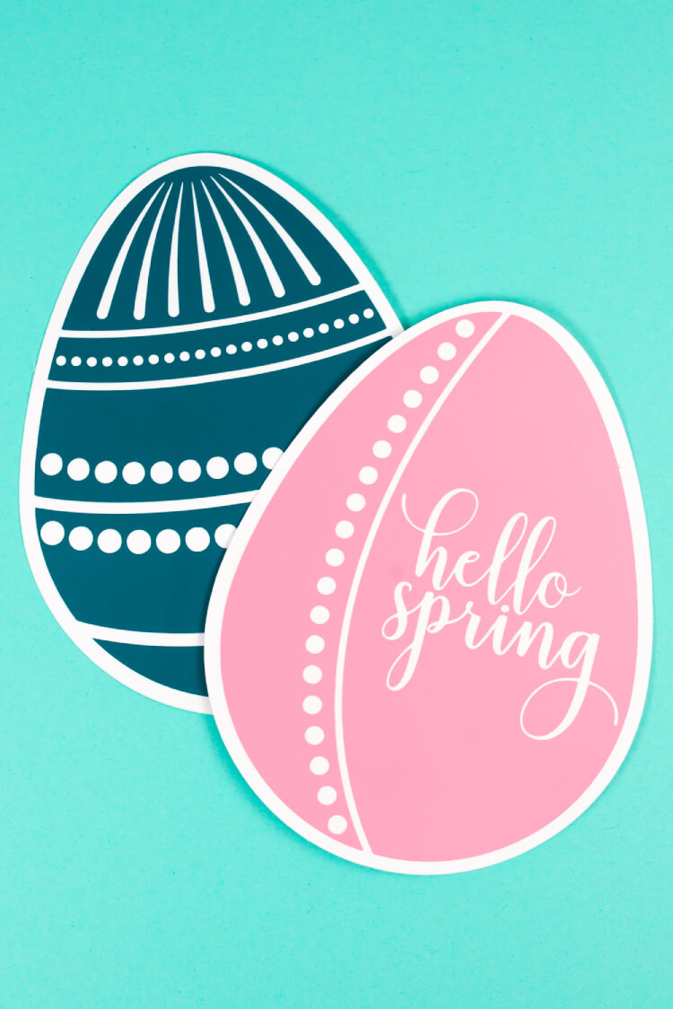 Get ready to hop into Easter! Use these Easter Egg SVG files for all your cute Easter crafts and projects.