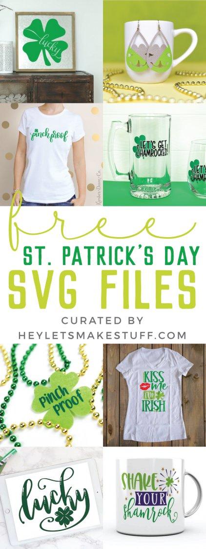 Free St. Patrick's Day SVG Files pin image