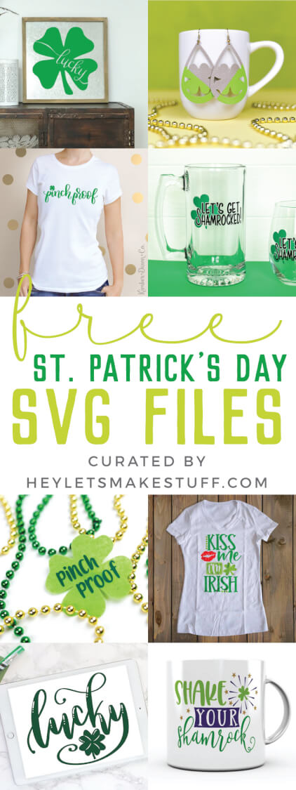 With St. Patrick's Day right around the corner, here is a lucky round up of SVGs perfect for all your leprechaun, rainbow and shamrock crafts and projects!