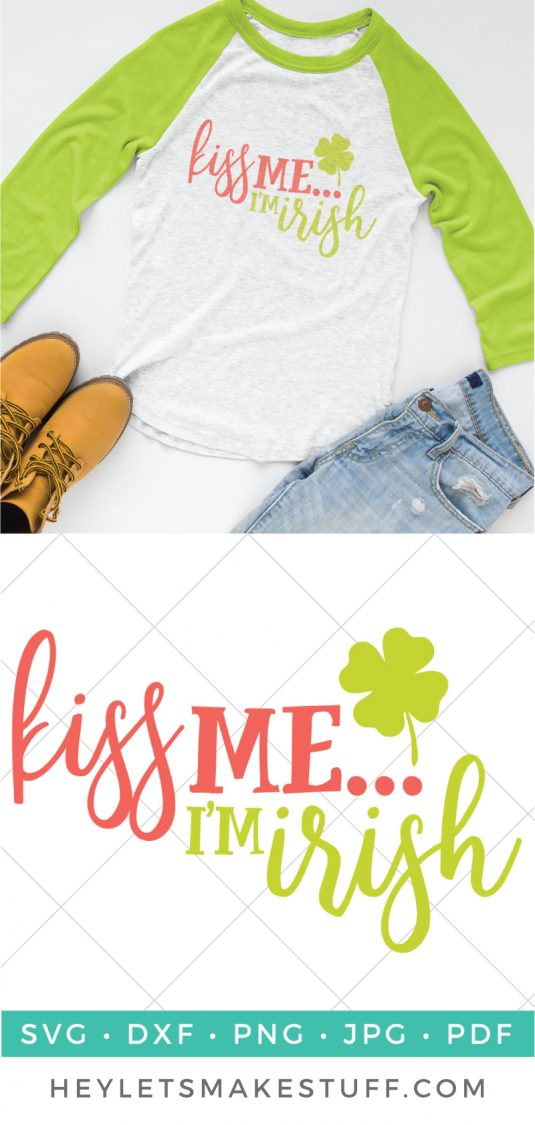 This cute Kiss Me I'm Irish shirt is perfect for those of you without the luck of the Irish actually flowing through your veins! Great for St. Patrick's Day shirts.