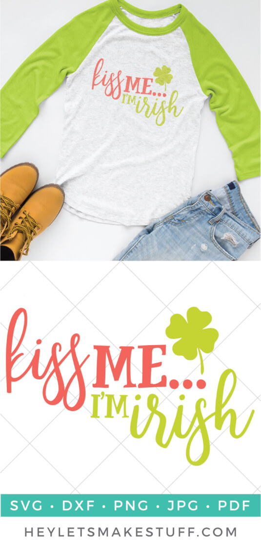This cute Kiss Me I'm Irish shirt is perfect for those of you without the luck of the Irish actually flowing through your veins! Great for St. Patrick's Day shirts. via @heyletsmakestuf
