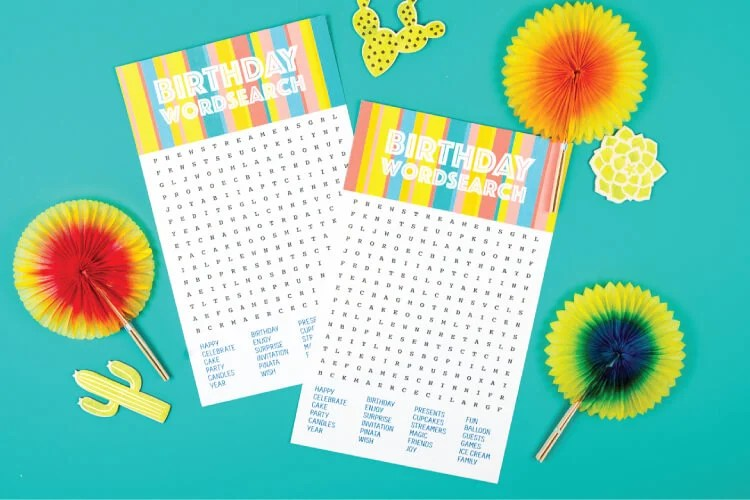 photograph about Free Printable Birthday Games for Adults referred to as Birthday Phrase Glance - Absolutely free Printable Obtain - Outstanding for