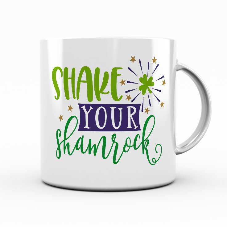Shake Your Shamrock SVG: With St. Patrick's Day right around the corner, here is a lucky round up of SVGs perfect for all your leprechaun, rainbow and shamrock crafts and projects!