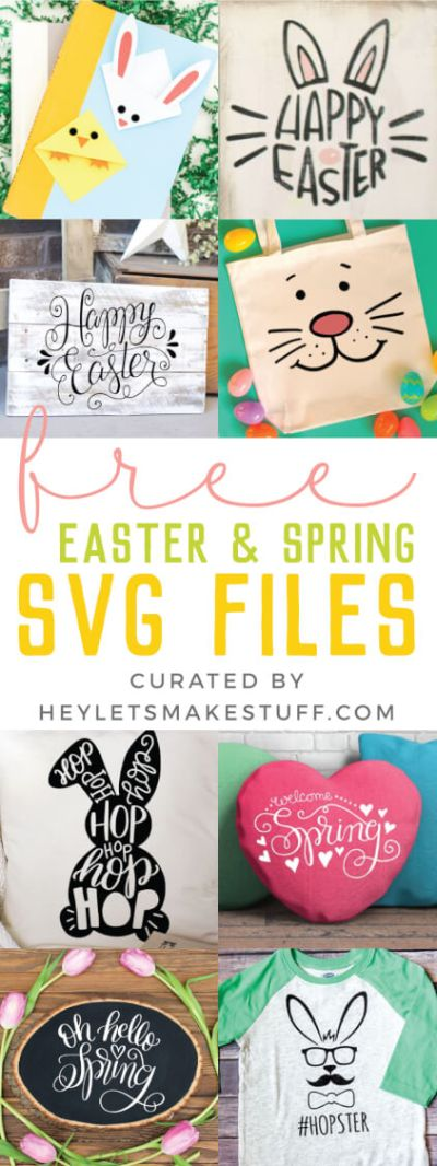 I'm sharing my favorite FREE SVGs for Easter and spring! All the colors, designs, decor, and adorable characters you'll need for a fun and festive season.