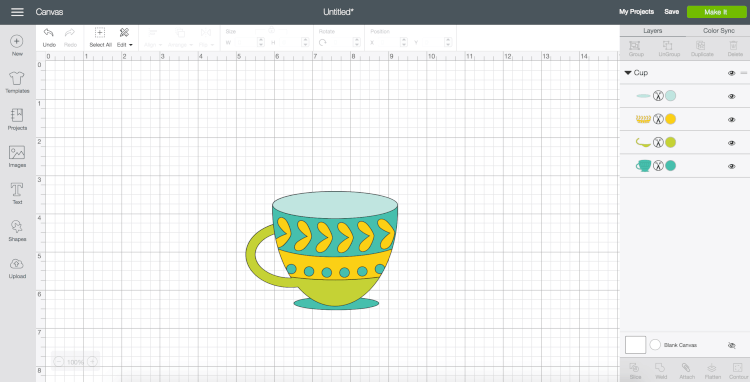 curve text in cricut design space - step 2