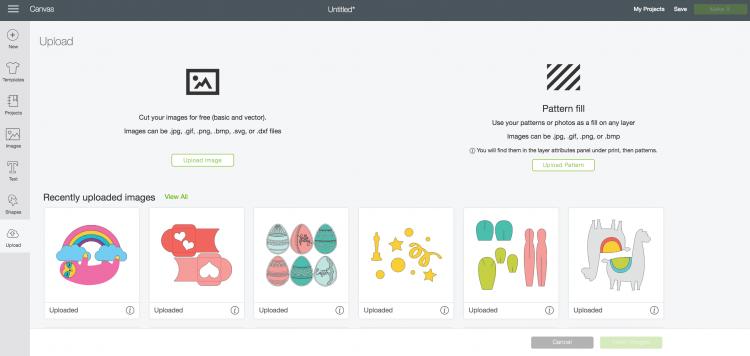 Uploading SVG files to Cricut Design Space