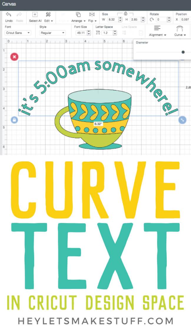 curve text in cricut design space - step 1