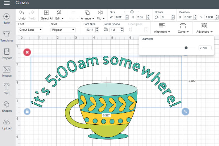 How to Curve Text in Cricut Design Space - New Feature Added!