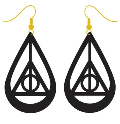 Channel your inner wizard with these Harry Potter Deathly Hallows Earrings, create them using your Cricut and charm all the Potter fans in your life.