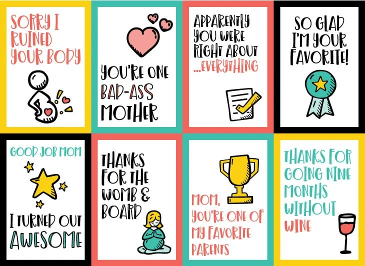 image about Funny Printable Mothers Day Cards called Printable Amusing Moms Working day Playing cards 8 Hilarious