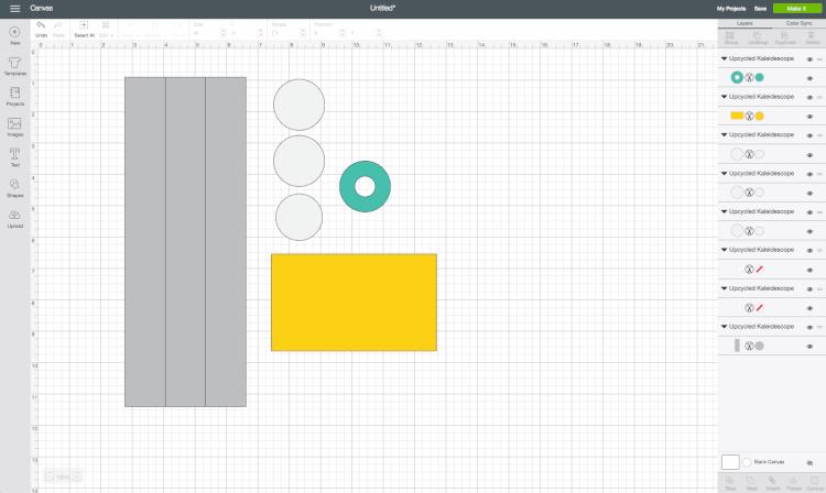 Screenshot of kaleidoscope steps