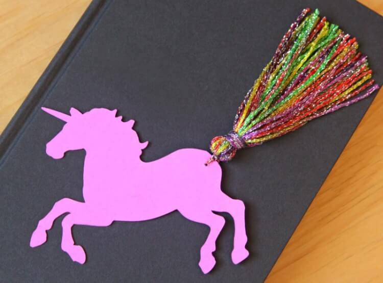 Unicorn Yarn Tail Bookmarks