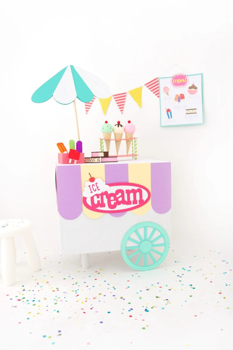 Cardboard Ice Cream Cart