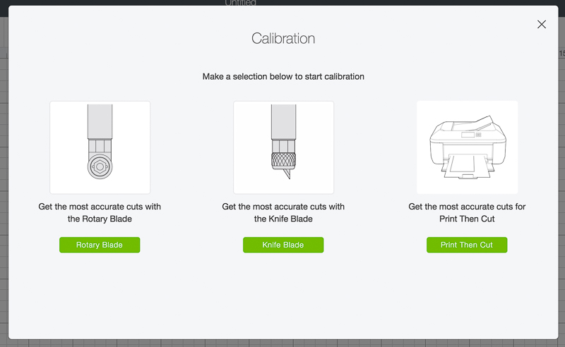 Choose Knife Blade Calibration Screenshot