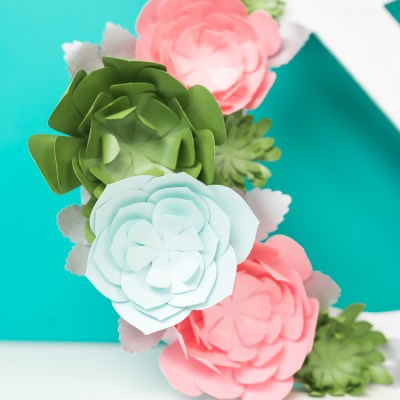 How to Make Paper Succulents with Your Cricut