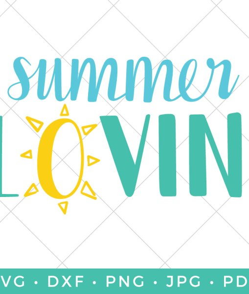 Who's lovin' summer? This hand-lettered Summer SVG with a happy sun is so fun on all sorts of summery projects, like tote bags, water bottles, t-shirts, and summer decor.