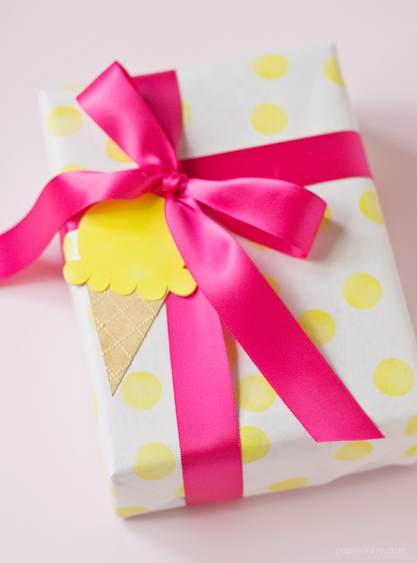 DIY Ice Cream Cone Gift Tags