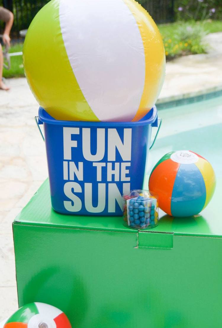 Beach Ball Party Pail Tutorial