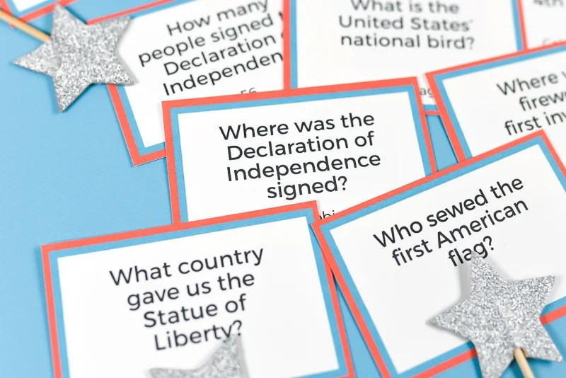picture about Mardi Gras Trivia Quiz Printable identified as Printable Fourth of July Trivia - Hey, Permits Create Things