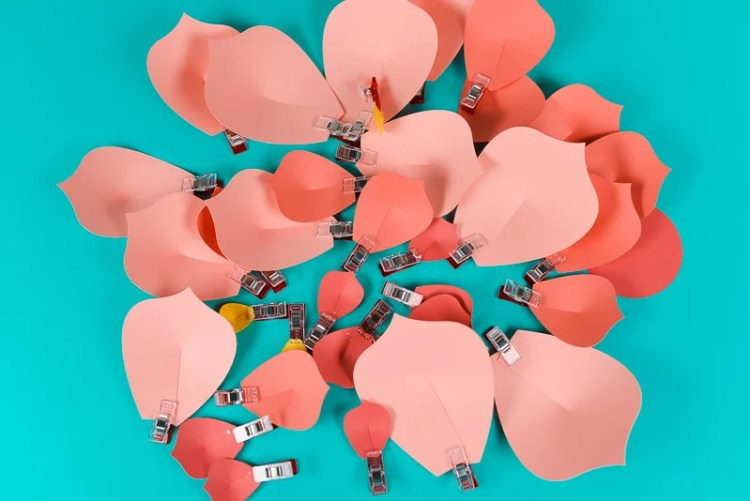 Pile of petals with Wonder Clips