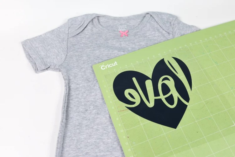SVG from Cricut Design Space for baby shirt