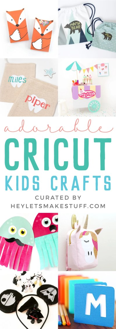 Keep the kiddos entertained with this fun collection of kids crafts with the Cricut! Have a blast creating and crafting all year long with your family.