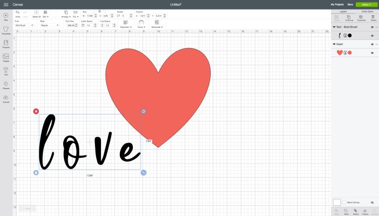 Write word Love