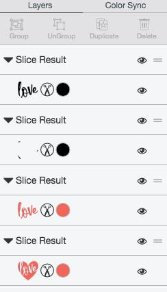 Slice result