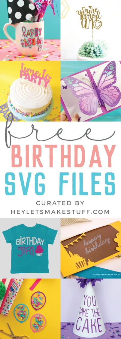 Want to DIY a birthday party? You're in luck! These FREE birthday party SVG files include decor, t-shirts, invitations, and more—designed to be cut on your Cricut or other cutting machine.