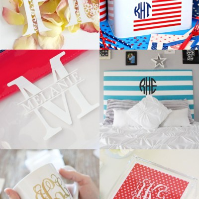 Monogram Crafts and Projects with the Cricut