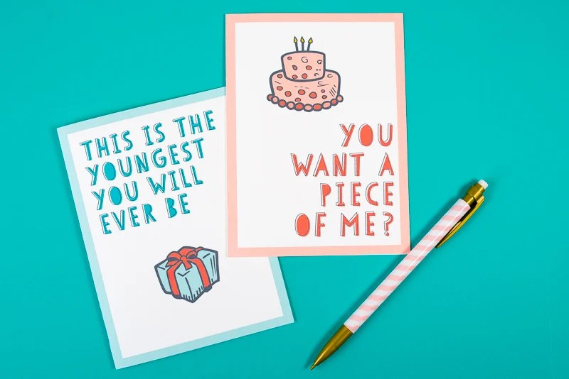 picture regarding Funny Birthday Cards Printable titled Cost-free Amusing Printable Birthday Playing cards for Grownups - 8 Options!
