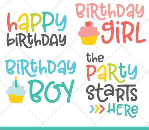 Birthdays only come around once a year—celebrate big with this fun and festive Flash Freebie Birthday SVG Bundle! Four cut and clip art files to create the perfect birthday.