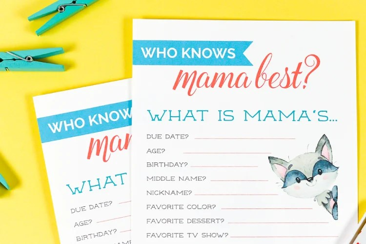 graphic about Who Knows Mommy Best Printable known as Who Appreciates Mama Excellent? A Free of charge Printable Kid Shower Sport!