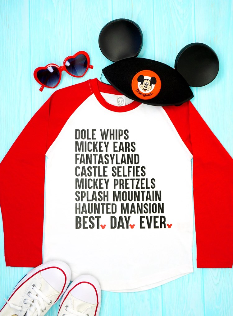 Best Day Ever' Disney Shirt + SVG File from happinessishomemade.net