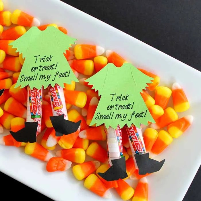 Halloween Candy Ideas - Witch Legs